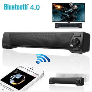 2 x Sound Bar Bluetooth Wireless Speaker Home Theater Built-in Subwoofer AUX USB Black