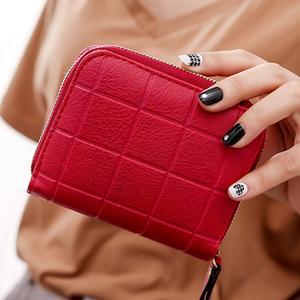 Women's Wallet Card Holder Wallets Nubuck Chess Small Zipper Wallet Coin Purse