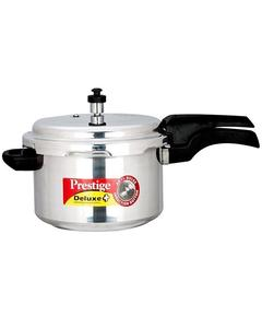 Deluxe Plus Induction Base Aluminium Pressure Cooker 5 Liter - Silver Mpd10702