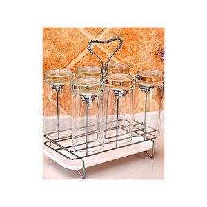 AS Mall Stainless Steel Glass Stand