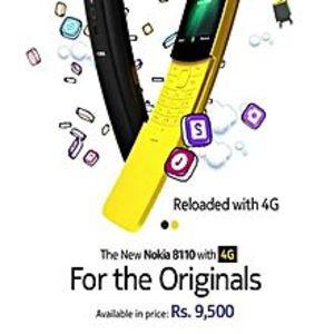 "Nokia8110 - 2.4"" Tft Display - 4Gb Rom - 512Mb Ram - 4G Lte - Black"