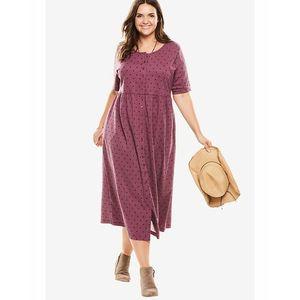 Magenta Maxi Dress For Women