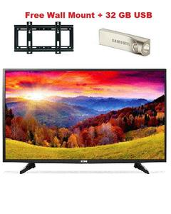 """ICON 32"""" LED Full HD LED TV With free Wall Mount and 32 GB USB"""