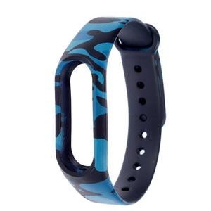 High Quality Mi Band 2 Strap - Blue Camouflage Army Navy Blue