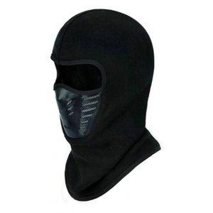 Windproof/Dust Proof Fleece Mask - Black