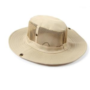 Men Outdoor Camping Fishing Cap Sun Protection Boonie Hat Wide Brim BE