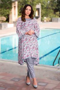 SITARA STUDIO Sapna Collection 2019 Multicolor Lawn 2PC Unstitched Suit For Women - 6133 A  (Un-stitched)