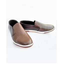 Brown Leather Casual Shoes for Men