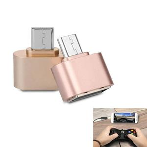 Mini Micro USB Male to USB 2.0 Female Adapter OTG Converter For Android Pink