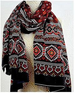 Multicolour Cotton Polyester Shawl For Women