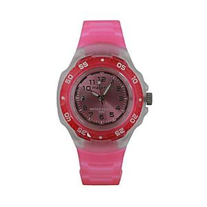 Pink Casual Marathon Jelly Watch (Model No. T5K367)