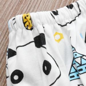 MissFortune Newborn Toddler Baby Panda Cartton Print T-shirt Tops+Pants Clothes Set