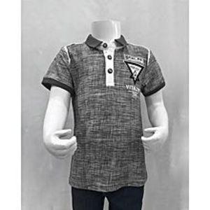 Tiny TodsGrey Premium Quality Imported Polo Shirt For Boys