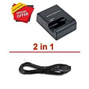 Nikon Pack Of 2 - Charger For Nikon Mh-25 For D7200 D610 D750 D810 + Power Cable Cord MH25