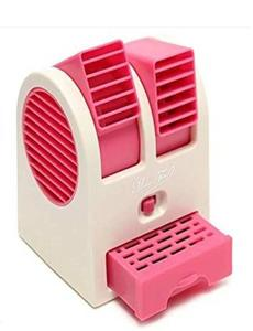 Royal Traders Mini Air Conditioner Perfumed Fan, USB and 3 AA Battery Operated - Pink