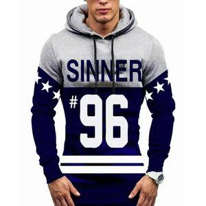 Grey Sinner Fleece Printed Hoodie for Men