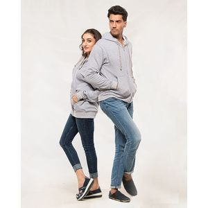 The Ajmery Pack of 2 Couple Heather Grey Hoodies. AJM-H250