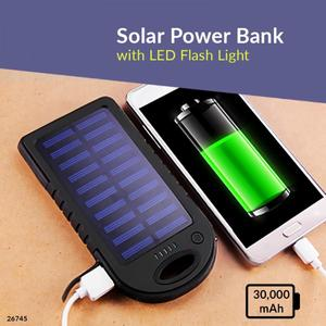 Charge with Solar Energy … 30,000 mAh Dual Ports Fast Power Bank Portable with Bright LED Lights