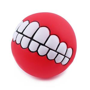 Pet Dog Ball Teeth Toy Chew Squeaker Squeaky Sound Dog Puppy Play Toys