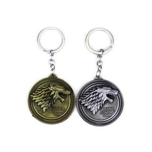 Game Of Thrones Metal Pendant Key Ring Unisex Keychain -Silver