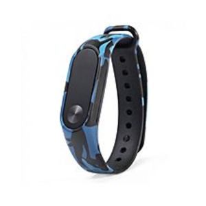 OEM Camouflage Pattern Watch Band For Xiaomi Mi Band 2 - Blue