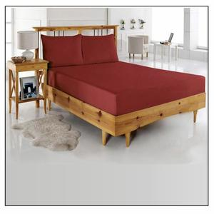 Maroon Jersey Fit 100% Cotton Bed Sheet - Single Bed