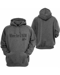Charcoal Printed Pullover Hoodie For Men