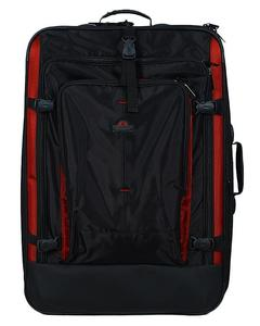 Roll-On Travel Suitcase - Red & Black