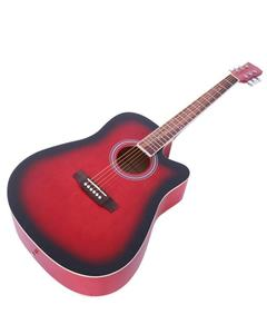 """Marconi 41"""" Acoustic Guitar Red"""