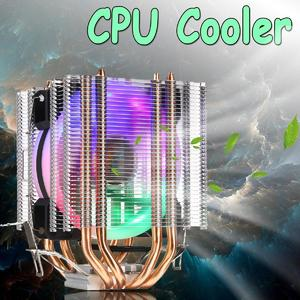 【Free Shipping + Flash Deal】CPU Cooler 4 Heatpipe Twin-Tower LED RGB Fan for LGA 775/1155/1156/1150/1366 AMD