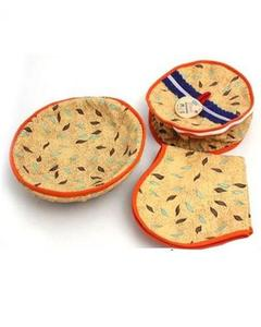 Hand Made 3 Piece Roti Basket - Multi Designs