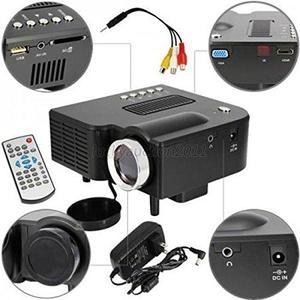 Sangdo UC28 24W Pro Portable HDMI Mini Home LED Projector 60 Cinema Theater Black