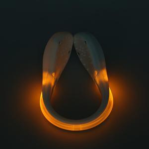 White Night Running Cycling LED Luminous Safety Warning Shoe Clip Light (2)