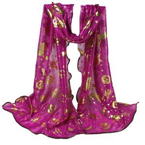 MissFortune Women Halloween Pumpkin Print Scarf Long Soft Wrap Shawl Stole Pashmina Scarves