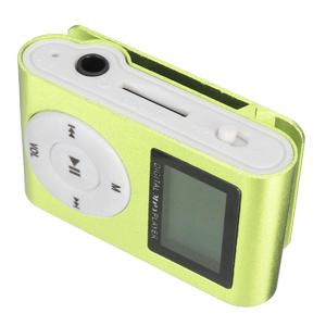 MP3 Player USB Clip 32GB Micro SD Card Slot  green