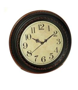 Wall Clock Brown Antique
