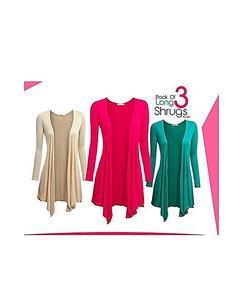 Pack Of 3 Stylish Shrugs - (Random Colors)