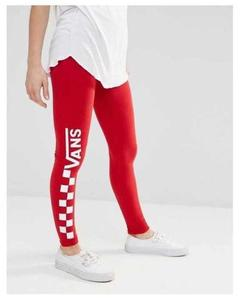 Red Vans Printed Gym Tights For Women By T-Shirts & Tops