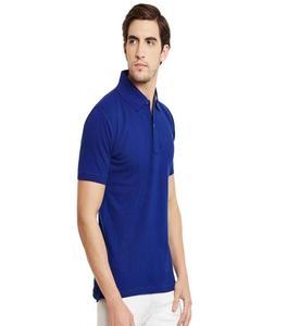 Plain Dark Blue Polo T-Shirt For Him
