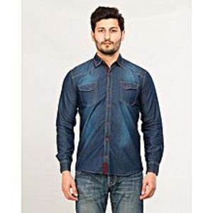 Daraz Fashion Blue Men's Long Sleeve denim shirt