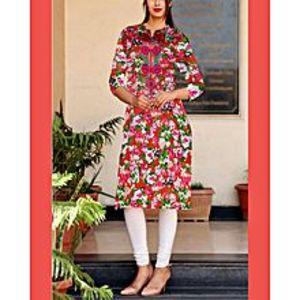sitara kurti mehalFloral Print Cotton Stitch  Kurta For Woman