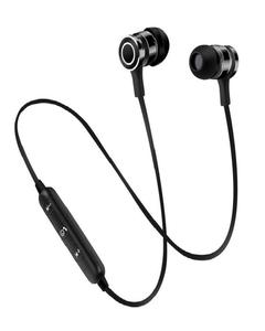 Wireless Bluetooth Stereo Headphone Earphone Headset With Magnetic Earbuds Built-In Mic