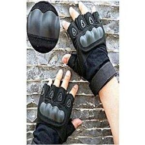 SHIPINHalf Palm Oakley Tactical Gloves - Black