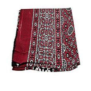 SmartUBlack And Maroon Silk Shawl For Women
