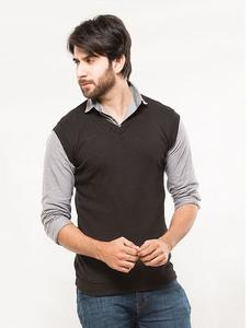 Black Fleece Sleeveless Sweater - Name