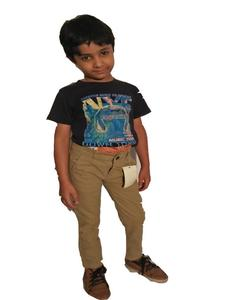 Cotton Chino Brown Pants for Boy