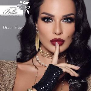 Bella Ocean Blue One Day Color Contact Lenses (-0.50 to -4.00 Power)