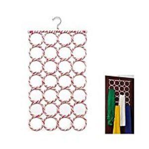 GepackScarf Hanger Organizer Shawl Storage 28-Hole (Pack Of Two)