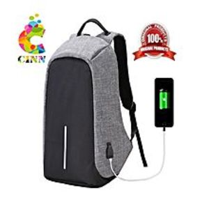 CINN ANTI-THEFT TRAVEL BAG WATER RESISTANT LAPTOP, SCHOOL USE WITH USB CHARGING PORT (R K)