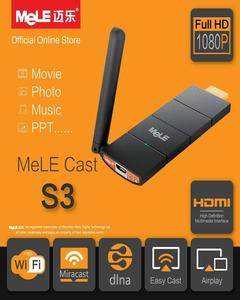 MeLE Cast S3 HDMI TV Stick WiFi Miracast AirPlay DLNA Wireless Streaming TV Dongle for Android iOS Windows Mac